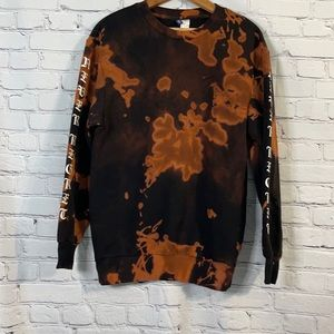 H&M Never Regret Bleach Dyed Pullover XS